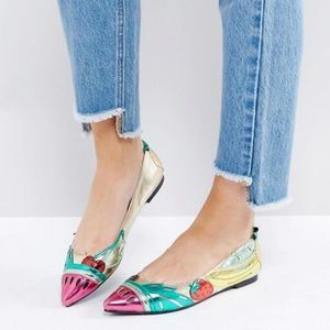 ASOS Fruit Lemon Flat Ballet Shoes 5